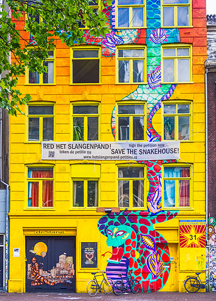 The Snake House in Amsterdam    © Howard Grill