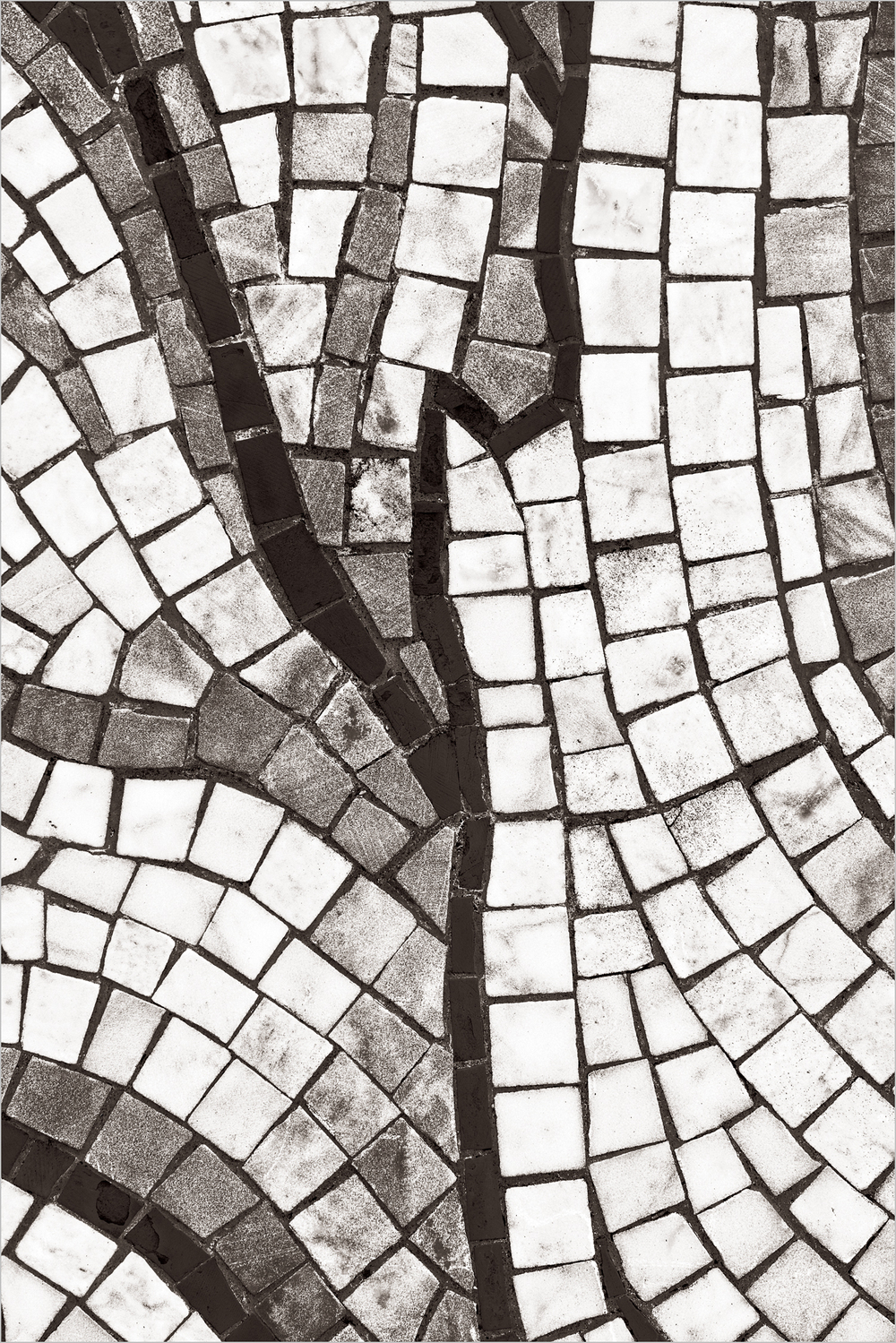 Mosaic Abstract From Piazza Lavoro    © Howard Grill