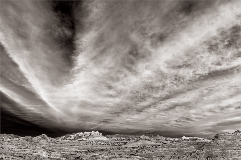 Valley Of Fire Sunset, Black And White    © Howard Grill