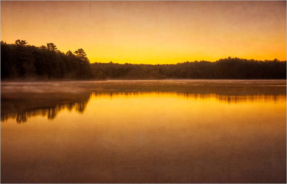 Pete's Lake In Michigan's Upper Peninsula - Textures Applied    © Howard Grill