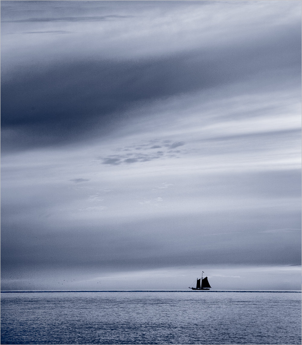 Lone Sailboat    © Howard Grill