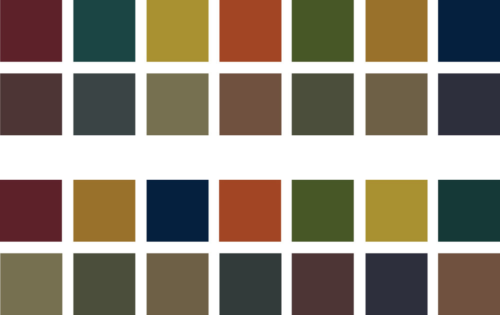 Taking visual cues from the Hill District, I developed a rich color palette.