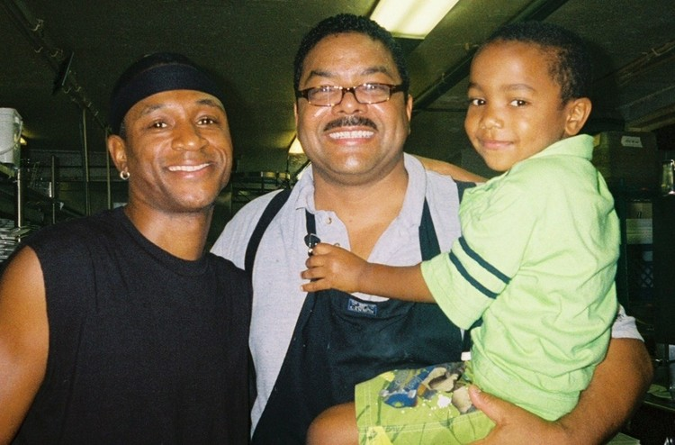 Tommy Davidson, Chef Juan Montier and Austin Montier