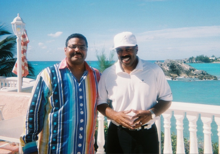 Chef Juan Montier and  Steve Harvey