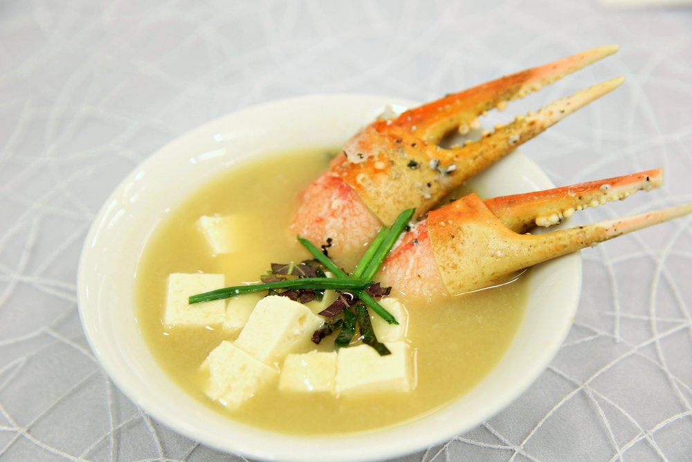 Miso Soup with Tofu and Crab