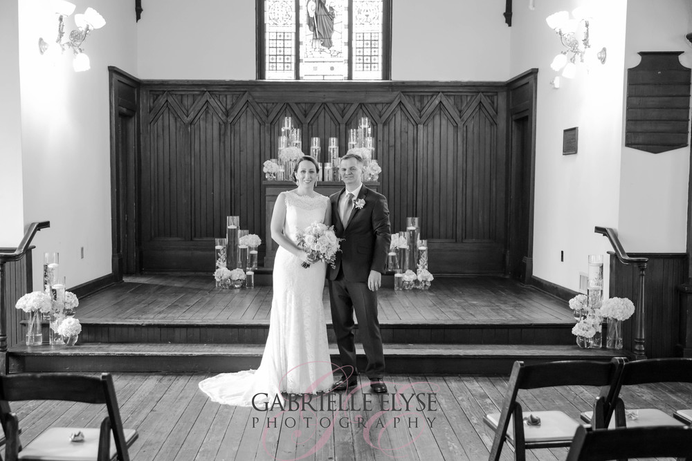 black and white wedding all saints
