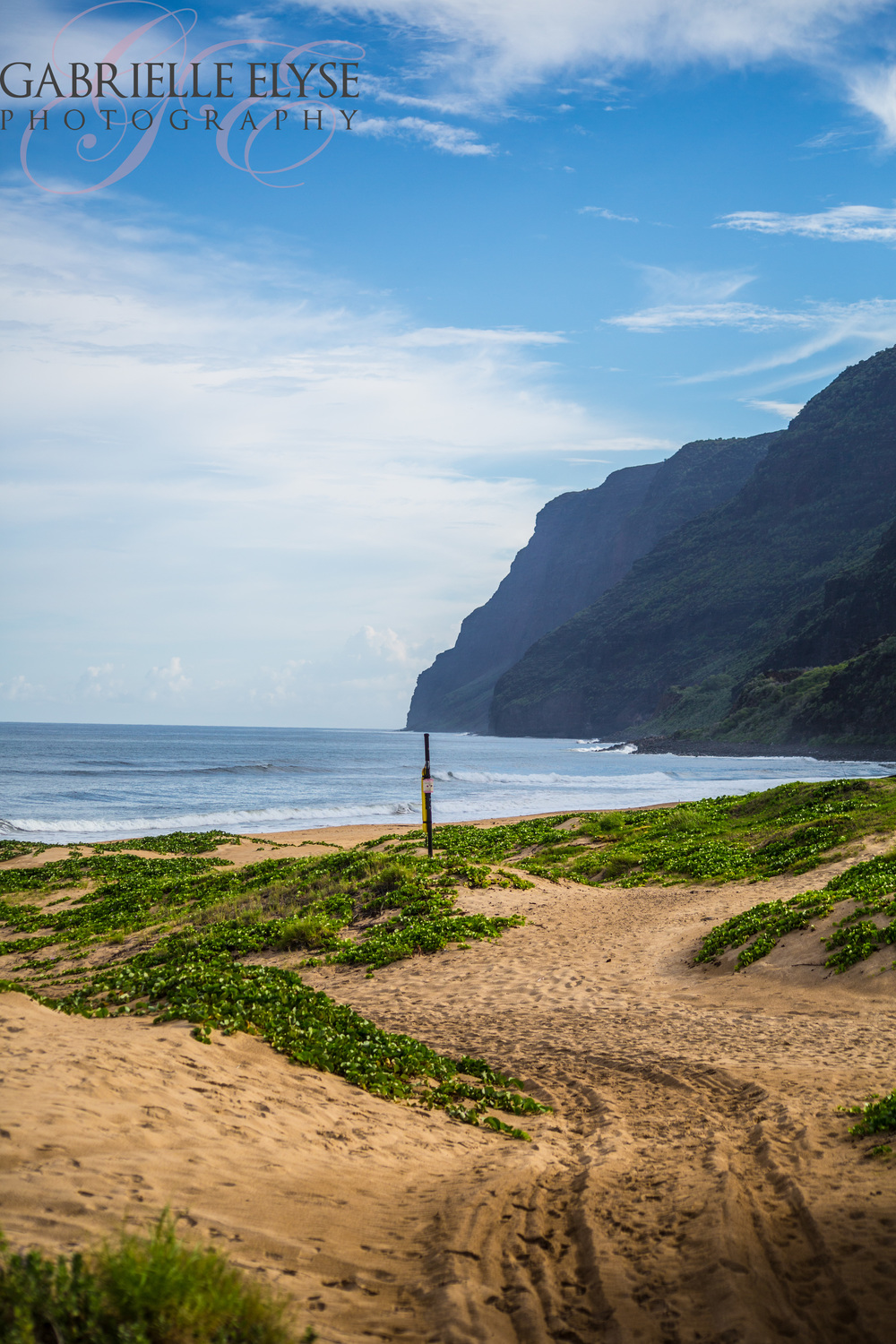 Gorgeous Beach- Check, The Gorgeous Napali Coast as your background- double check.