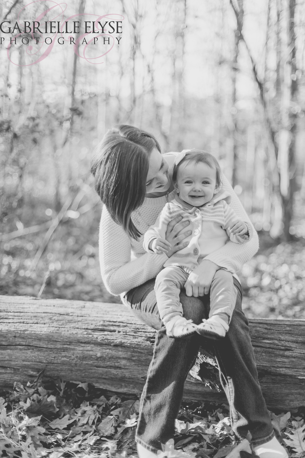 black and white mommy daughter