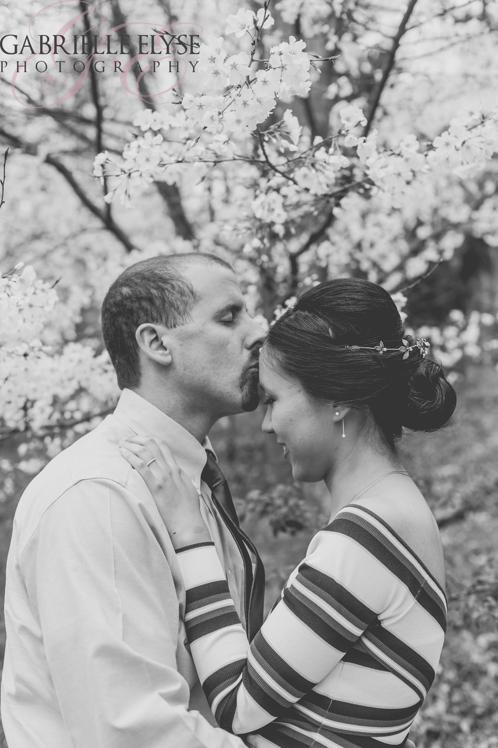 black and white garden wedding