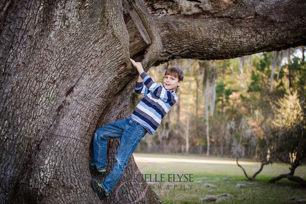 florida tree park family session