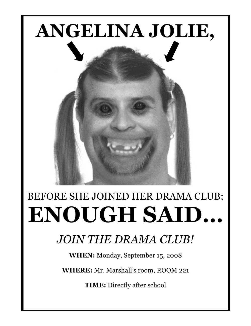 RECRUITMENT POSTER #2 FOR OUR FIRST EVER DRAMA CLUB
