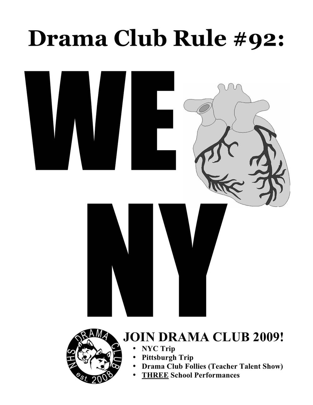 RECRUITMENT POSTER #5 FOR OUR FIRST EVER DRAMA CLUB