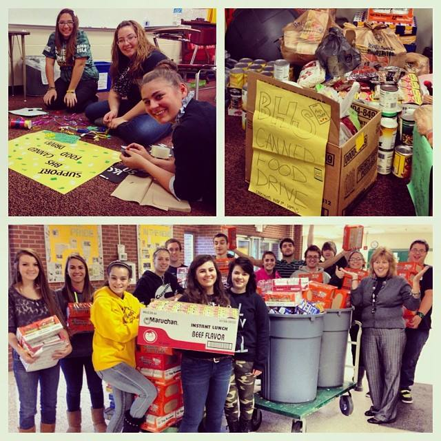 MY HOMEROOM WON EVERY CHARITY EVENT DURING THE FOUR YEARS I LED THEM. THIS IS A PICTURE FROM OUR FINAL CANNED FOOD DRIVE