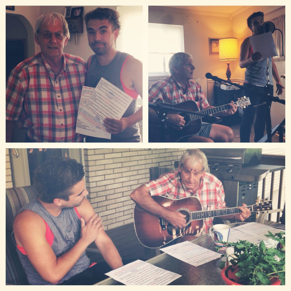"BEHIND-THE-MUSIC PUTTING THE FINAL TOUCHES ON THE SONG ""WORDS FROM MY FATHER"" WITH JIM AVETT"