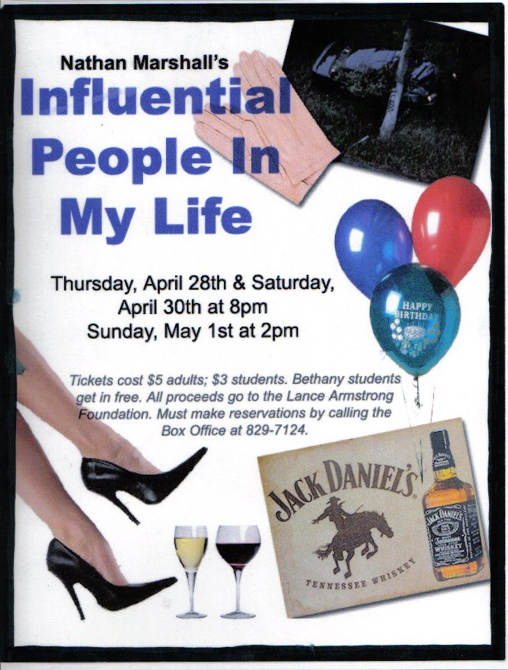 """STUDENT CREATED FLYER FOR """"INFLUENTIAL PEOPLE IN MY LIFE"""""""