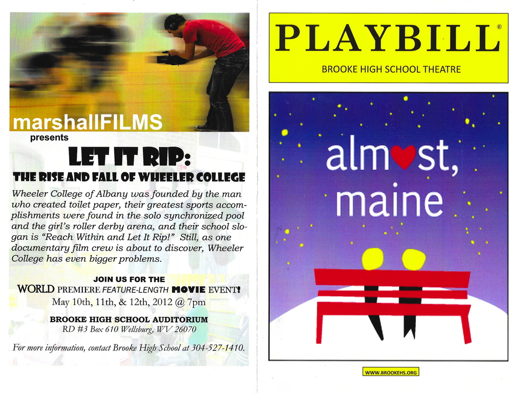 OUR ALMOST, MAINE PLAYBILL