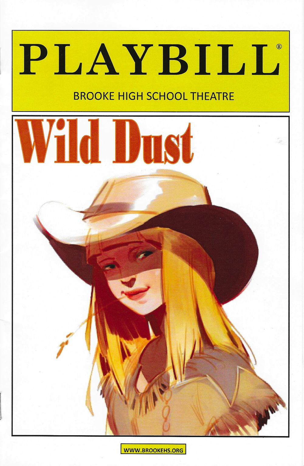 THE PLAYBILL FOR THE SECOND PERFORMANCE, WILD DUST