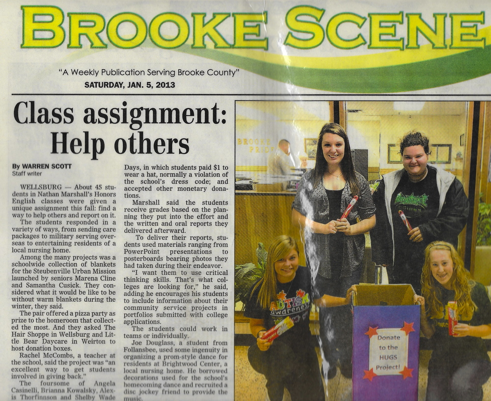 THE GREAT GIVEBACK WAS A PROJECT STUDENTS DID TO HELP CHARITIES OF THEIR CHOICE