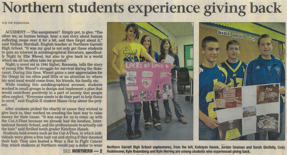 THIS IS SOME PRESS FROM MY FIRST YEAR DOING THE GREAT GIVEBACK