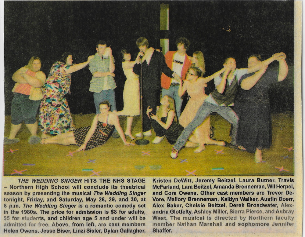 SOME PRESS FROM OUR FIRST EVER MUSICAL, THE WEDDING SINGER