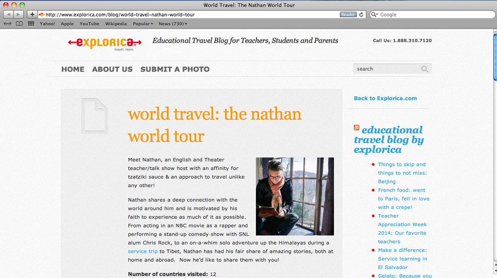THE TRAVEL COMPANY FEATURED ME ON THEIR BLOG.  CLICK HERE  TO READ THAT ARTICLE