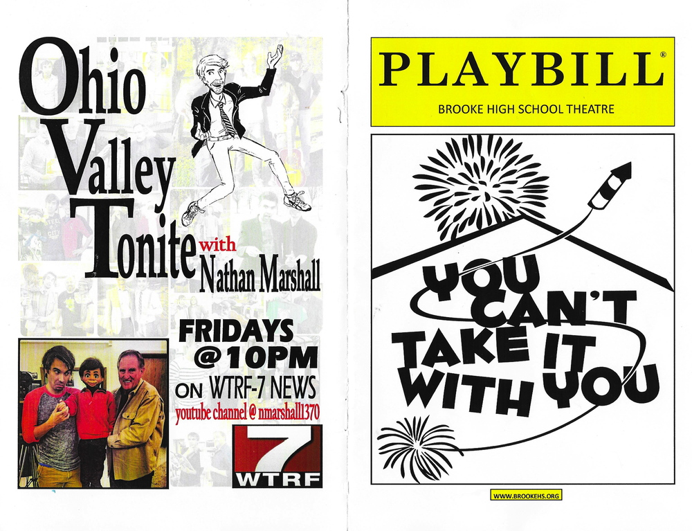 THE PLAYBILL FOR OUR SECOND MAJOR PERFORMANCE, YOU CAN'T TAKE IT WITH YOU