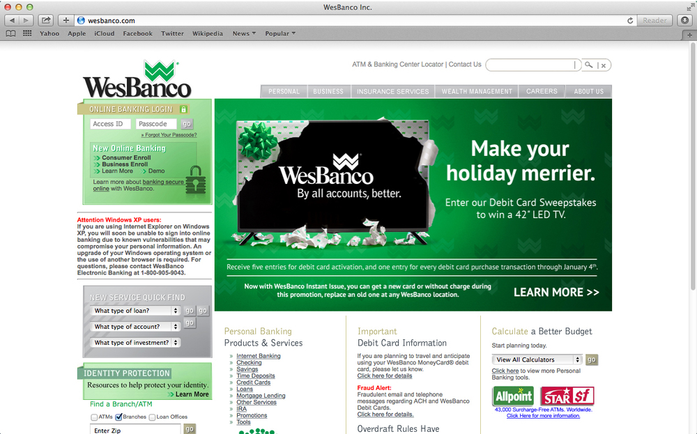 WESBANCO HOMEPAGE
