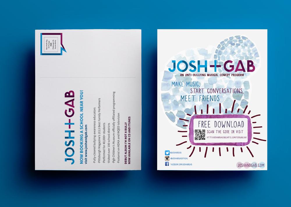 JOSH + GAB PROMOTIONAL POSTCARD