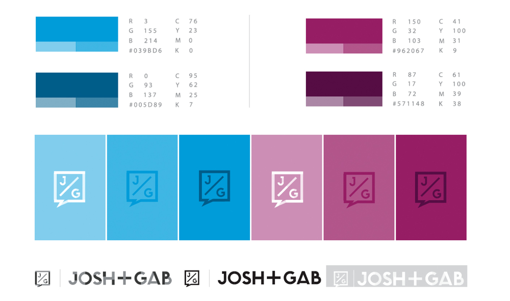 JOSH + GAB COLOR GUIDE