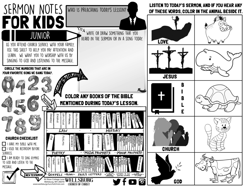 SERMON NOTES FOR KIDS (ADOLESCENT)