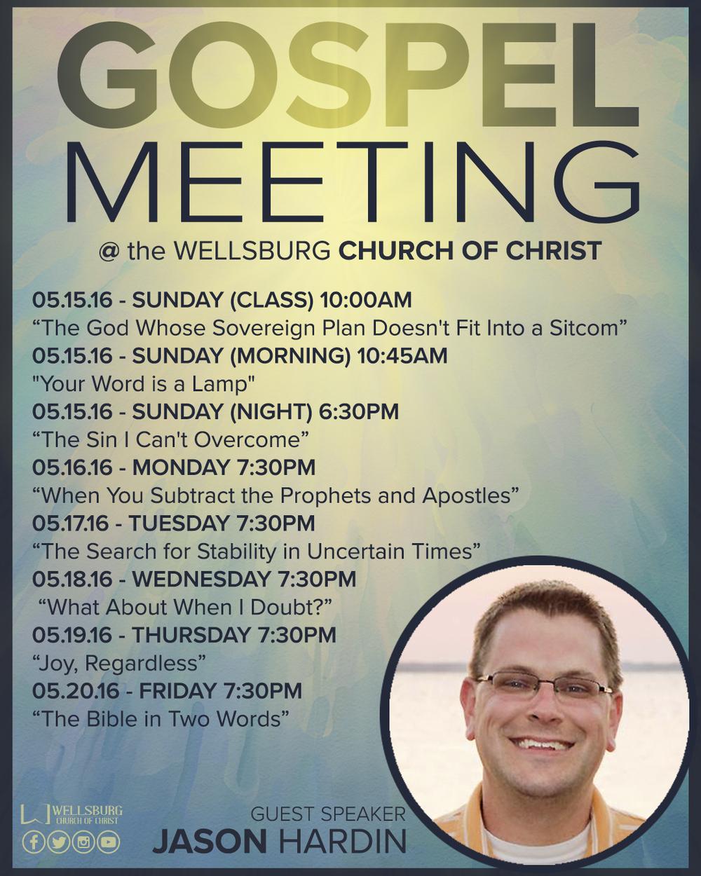 INSTAGRAM ADVERTISEMENT (GOSPEL MEETING)