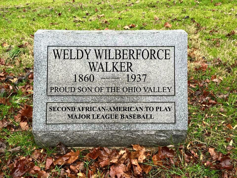 THE CONCEPT FOR A TOMBSTONE FOR WELDY WALKER (SECOND AFRICAN-AMERICAN TO PLAY PROFESSIONAL BASEBALL) THAT I HELPED RAISE MONEY FOR AND SPEARHEAD