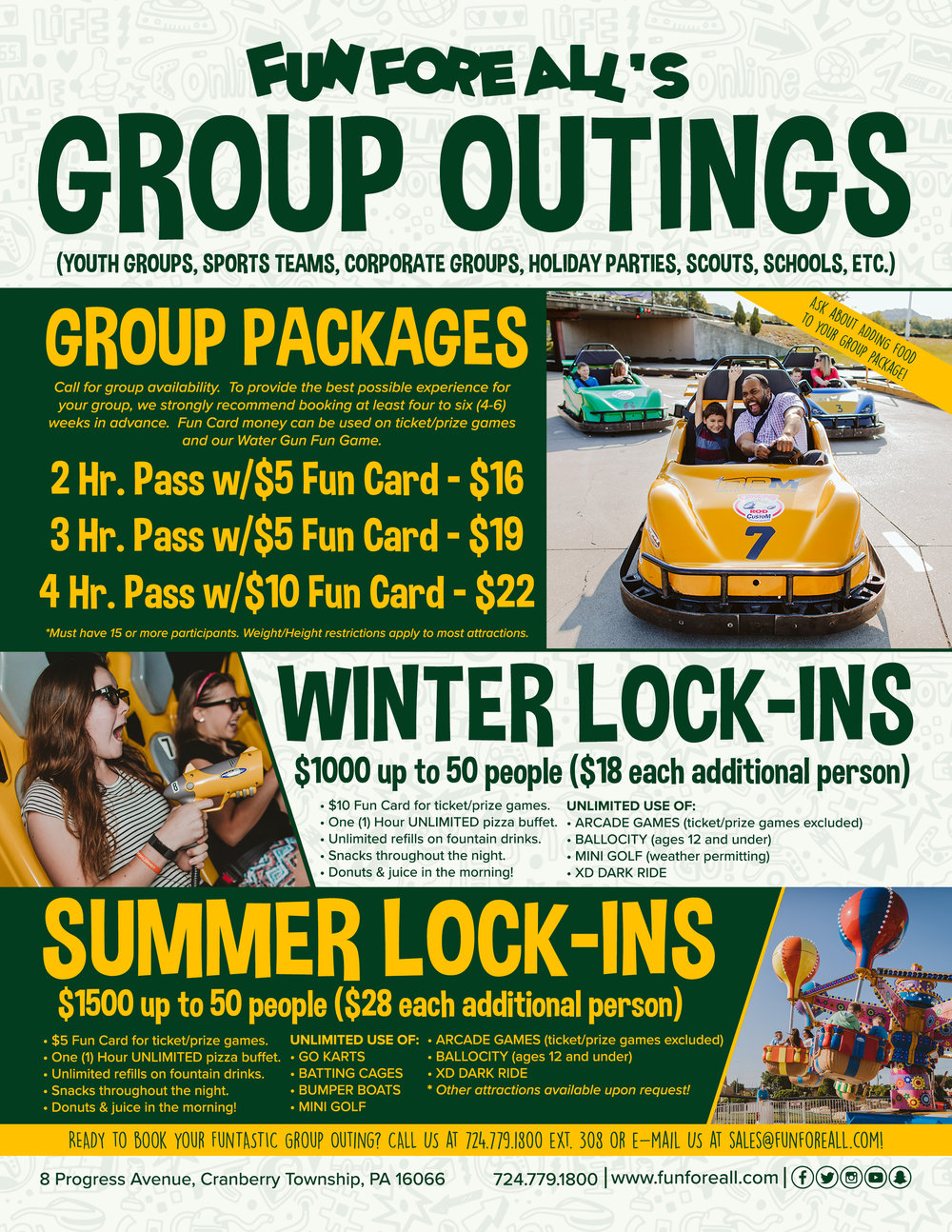 GROUP OUTINGS FLYER