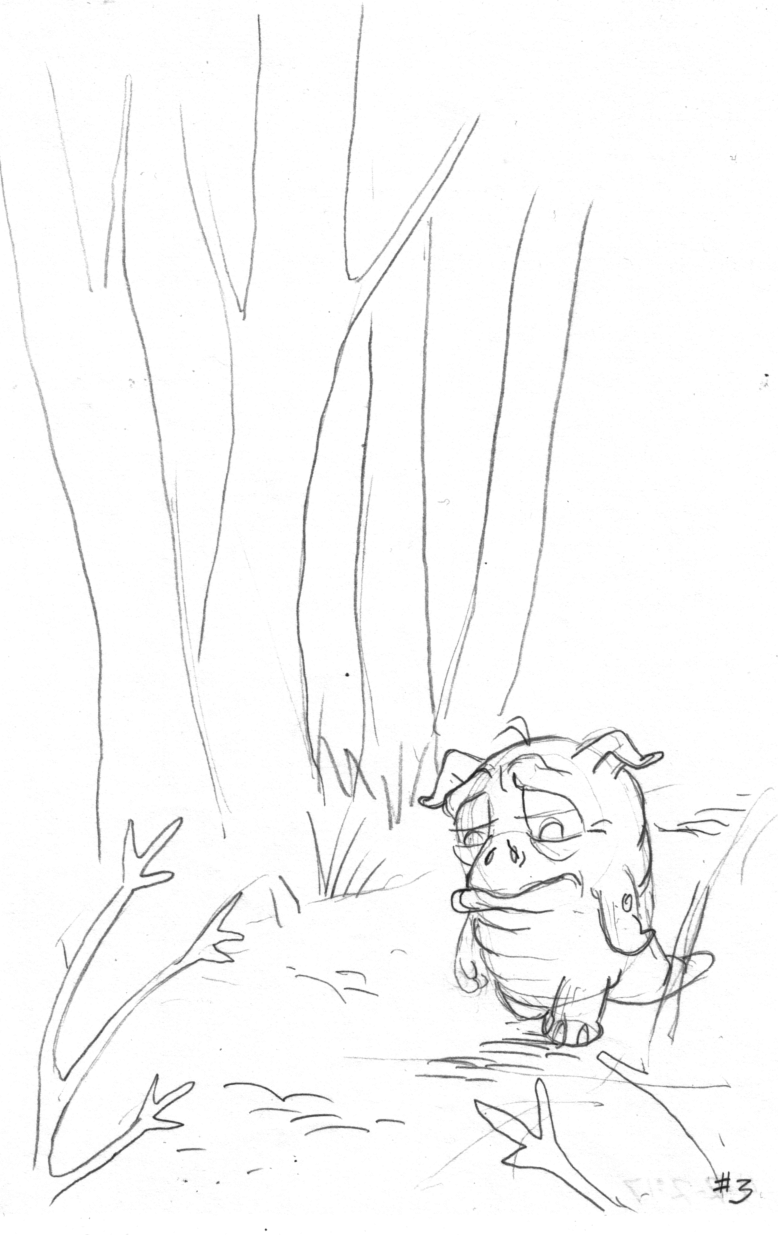 SAM THE SQUONK SAVES <br> THE PARK SKETCH