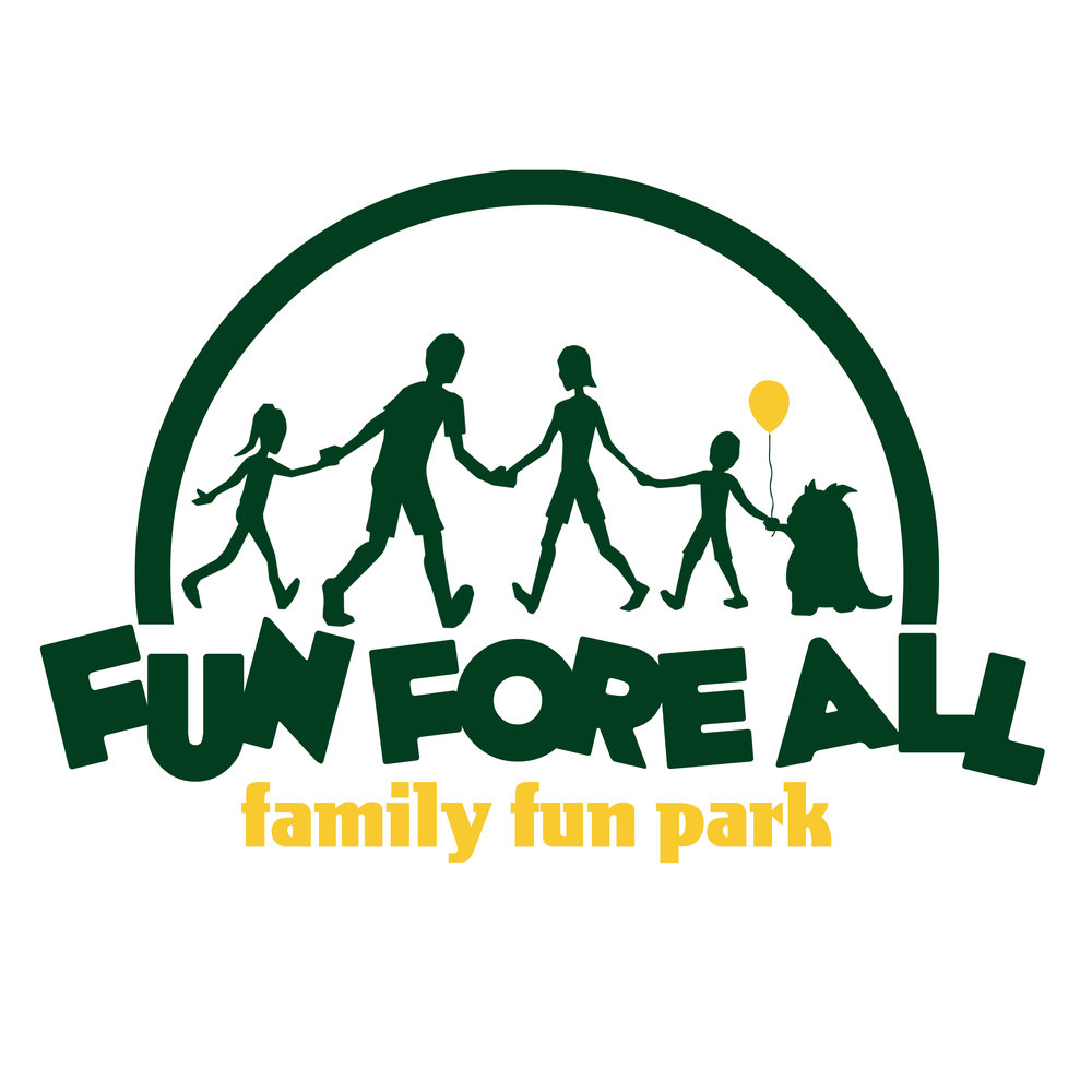 SAM THE SQUONK IN <br> THE FUN FORE ALL LOGO