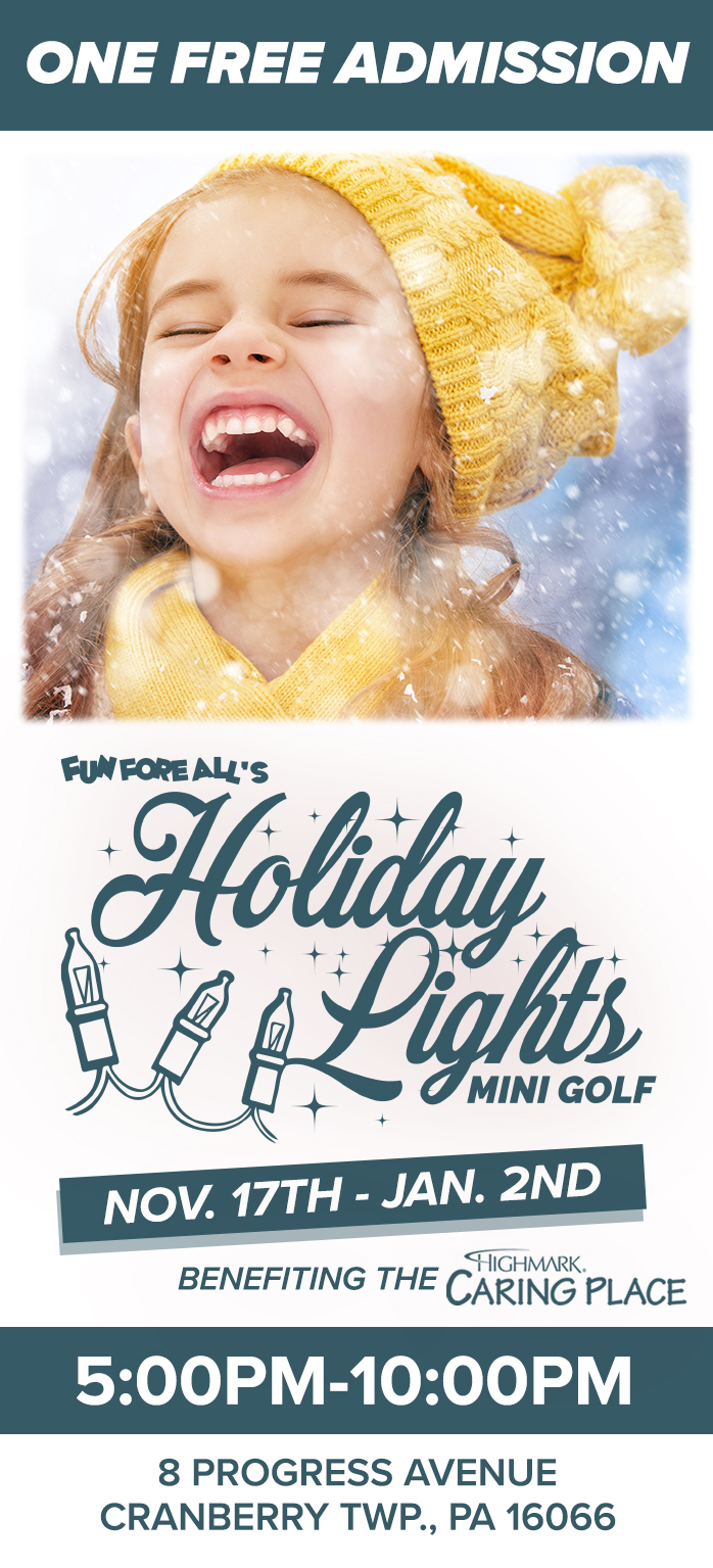 HOLIDAY LIGHTS <br> ADMISSION TICKET (FRONT)