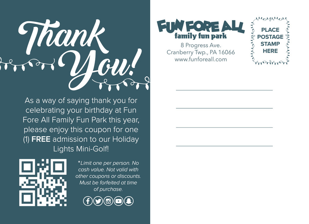 HOLIDAY LIGHTS  POSTCARD - BACK (2017)