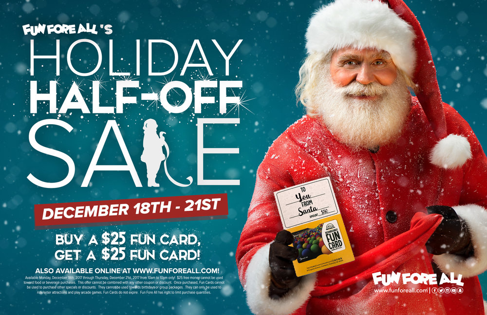 HOLIDAY HALF-OFF <br> SALE FLYER (2017)