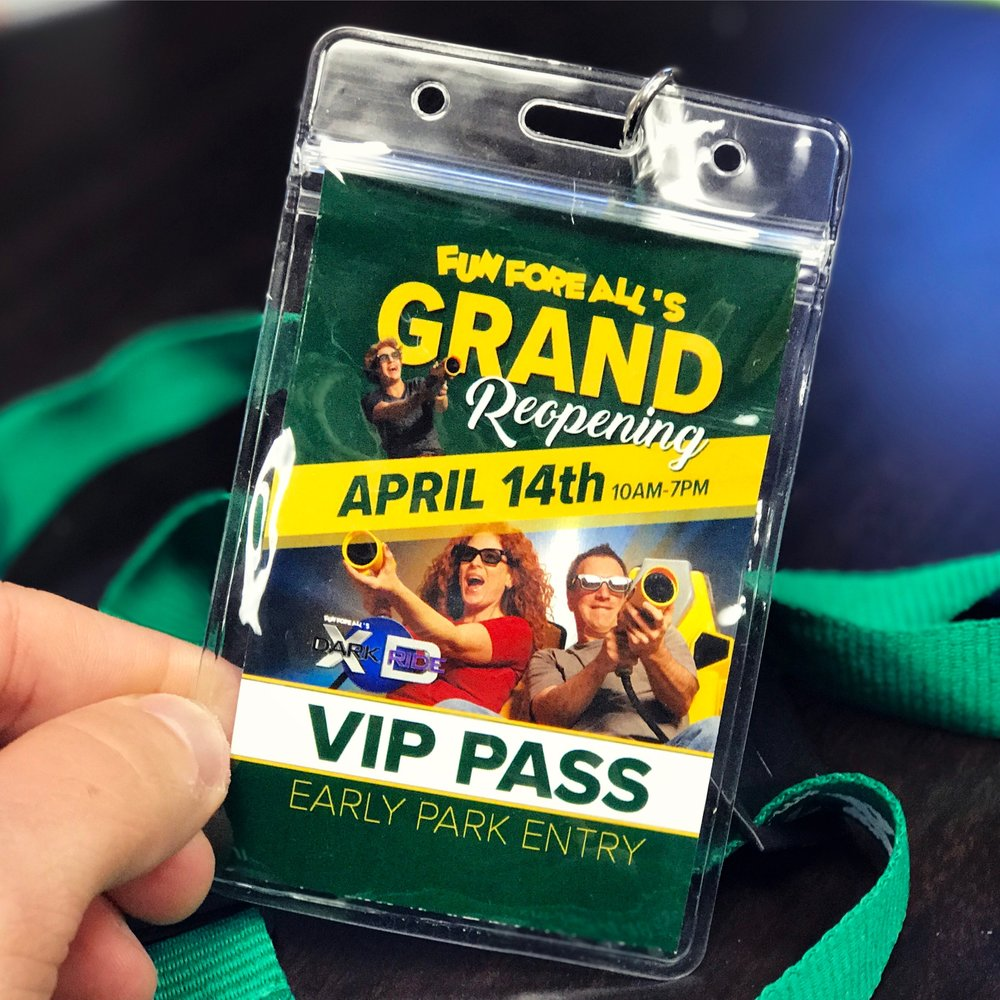 GRAND REOPENING <br> VIP PASS