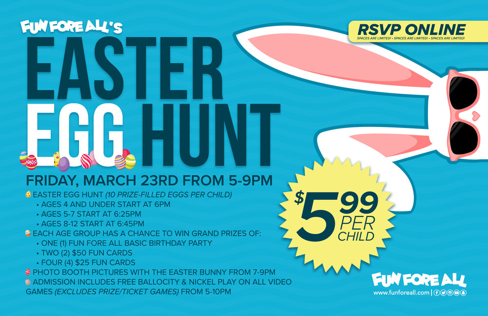 EASTER EGG HUNT <br> EVENT FLYER