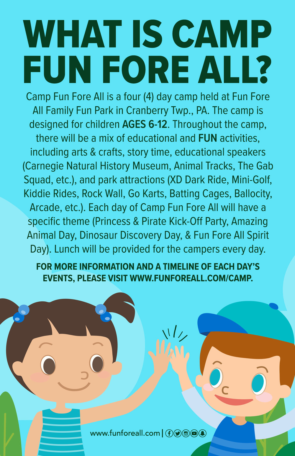 CAMP FUN FORE <br> ALL FLYER (BACK)