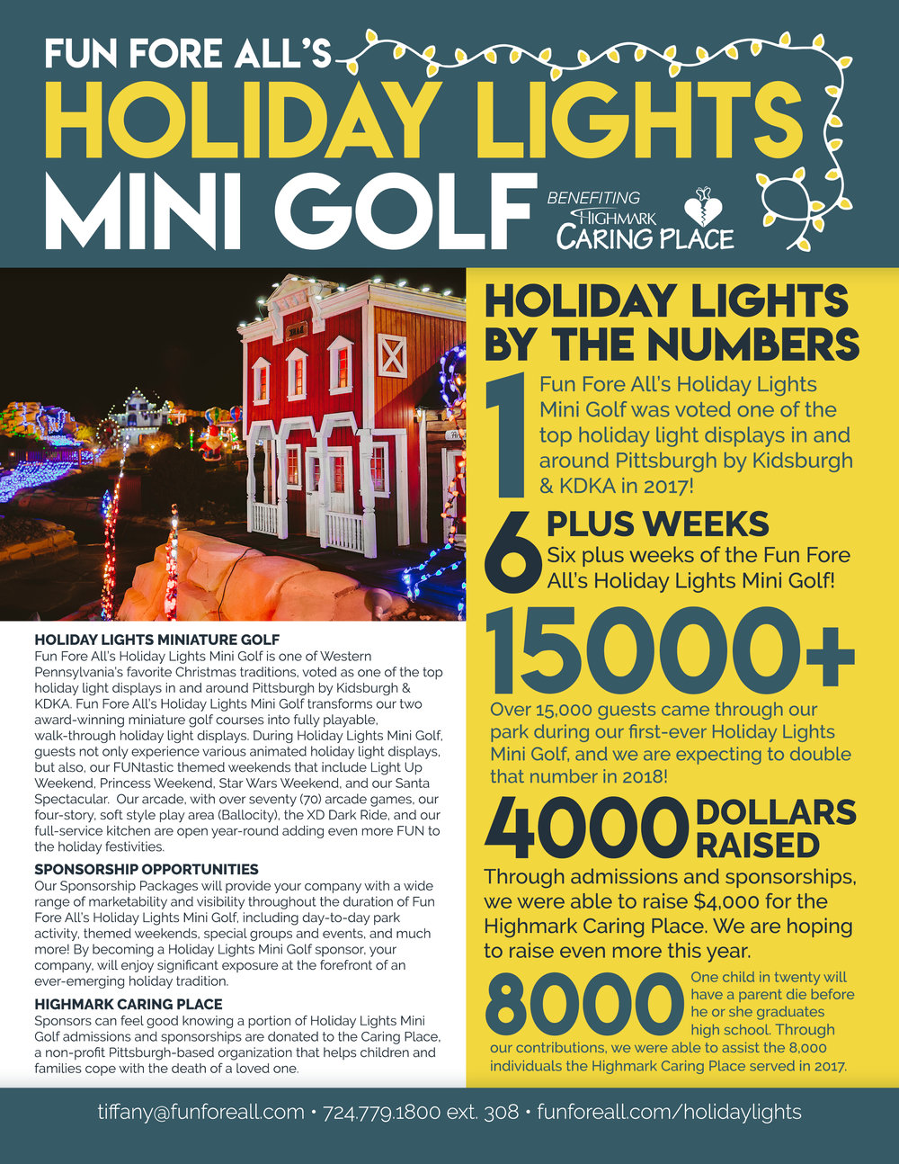 HOLIDAY LIGHTS <br> ONE PAGER (FRONT)