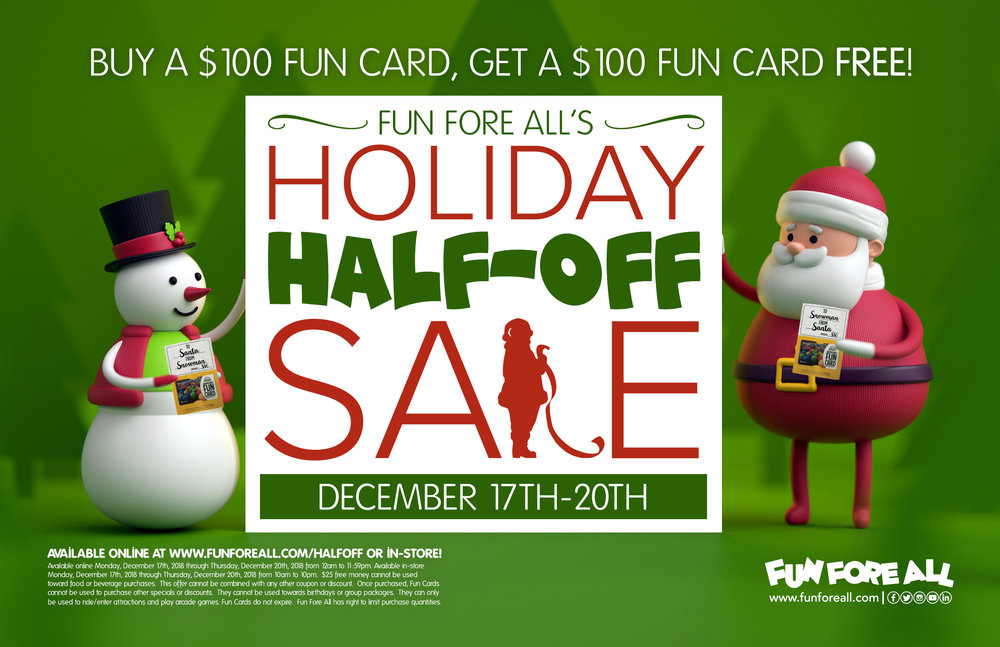 HOLIDAY HALF-OFF SALE FLYER (2018)