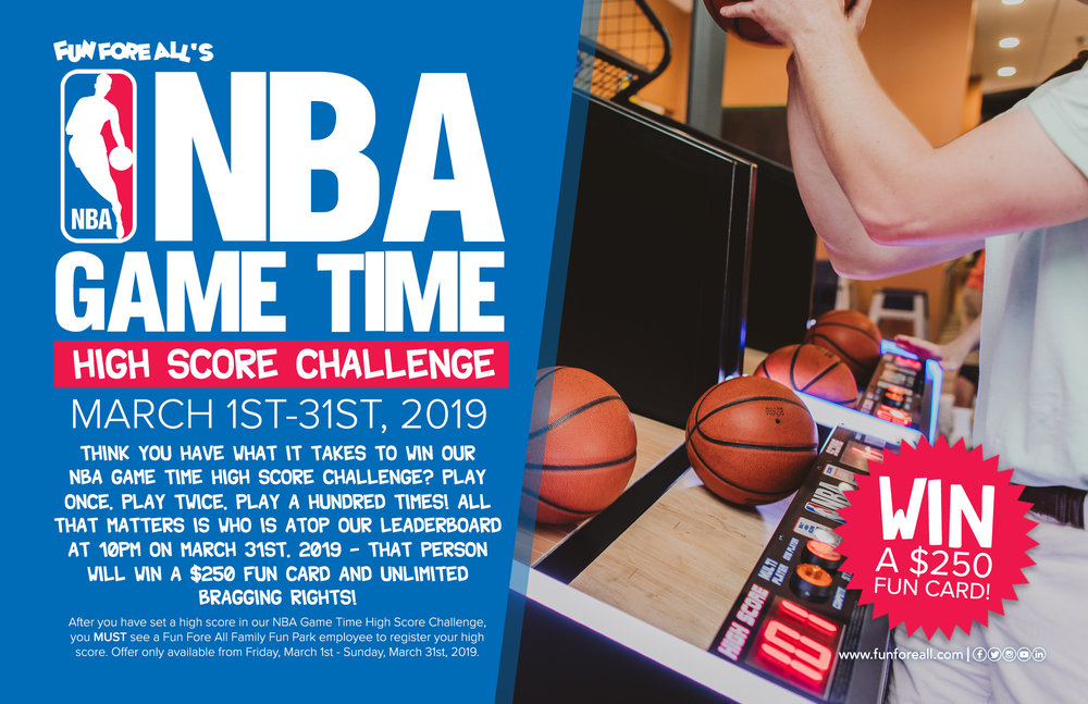 NBA GAME TIME PROMOTIONAL FLYER (2019)