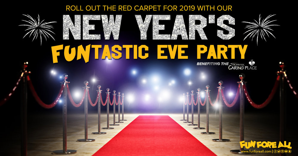 NEW YEAR'S FUNTASTIC  EVE INVITE BANNER (2018)