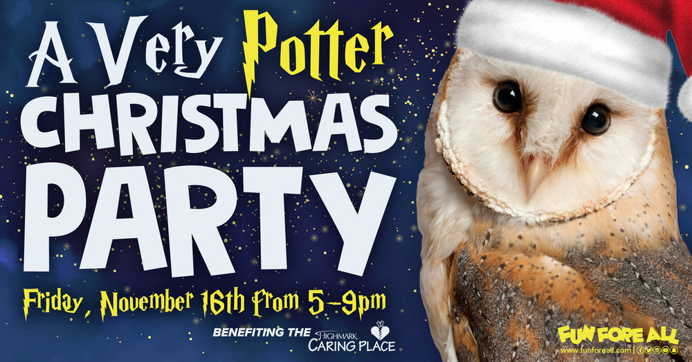 A VERY POTTER CHRISTMAS PARTY INVITE BANNER (2018)