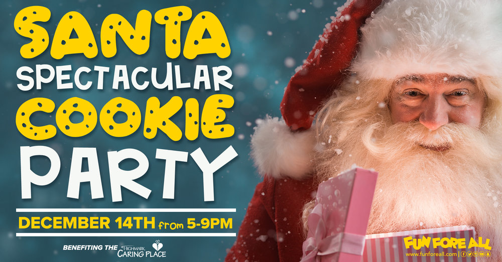 SANTA SPECTACULAR COOKIE PARTY INVITE BANNER (2018)