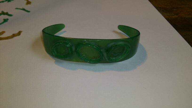 wax carved jewellery cuff