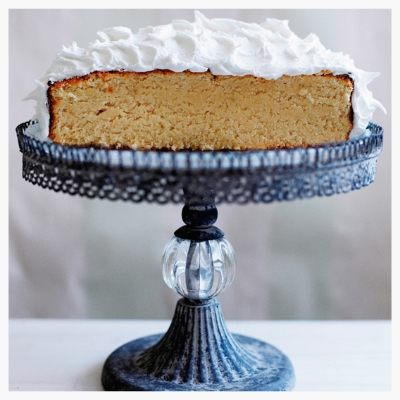 Visit the Meat Free Week website for heaps of amazing recipes such as this beautiful Lime & Coconut Island cake