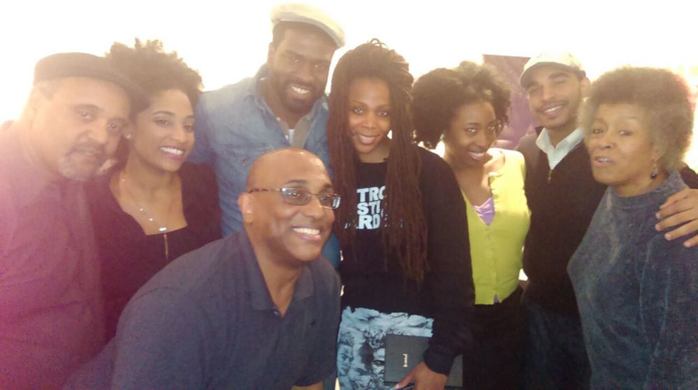 DEL (in a sydney james designed skirt) & the BOTTLE TREES cast. y'all are so incredibly flyy...